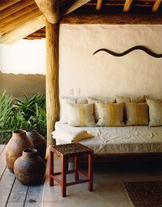 casa Seu Joao's outdoor-indoor patio. UXUA Casa Hotel & Spa, Trancoso…