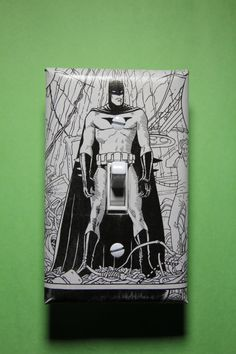 Batman Black and White Light Switch Plate Cover by ComicRecycled, $7.99