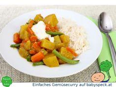 Einfaches Gemüsecurry - veganes BLW-Rezept für Babys ab 6 Monaten