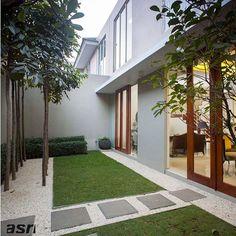 Inspirasi desain taman kering (Dry garden) yang simpel namun tetap eye catching…