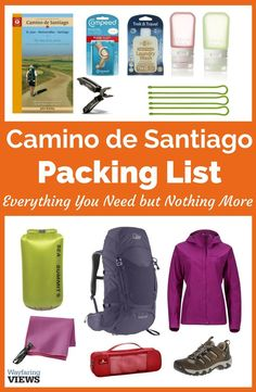 Get a complete packing list for hiking the Camino de Santiago. It includes suggestions for clothes, shoes, packs and all your gear. And you can download a free printable packing list for the hike.