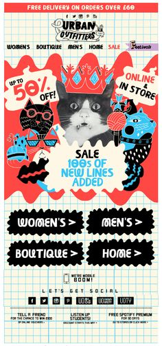 Another awesome Cat-tastic email from Urban Outfitters 02/07/2013