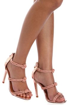 Rose Gold Triple Knot Heels | WindsorCloud