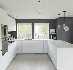 61 brilliant small kitchen ideas you're sure to love 22 - Home Decor -DIY - IKEA- Before After Kitchen Room Design, Modern Kitchen Design, Home Decor Kitchen, Interior Design Kitchen, Kitchen Ideas, Modern Design, Modern Kitchen Cabinets, Modern Farmhouse Kitchens, Ikea Kitchen