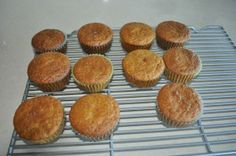 Short cakes - gluten free.  Made with coconut flour in muffin tins.