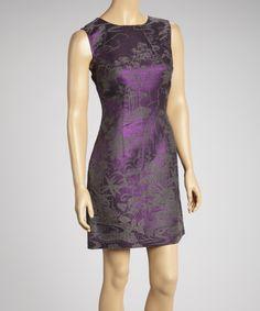 Purple & Gray Sheath Dress