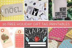 20 Free Holiday Gift Tag Printables