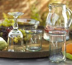 Love these tumblers and old-fashioned sizes for everyday glassware | Casa Recycled Glassware, Set of 6 | Pottery Barn
