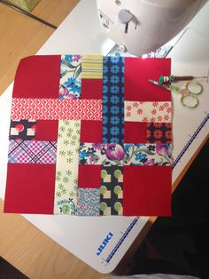 """Well, """"Tartan"""" is what MrPnP called it,     when he saw my latest quilt top together!         As this is made from Densye Schmidt's     """"..."""