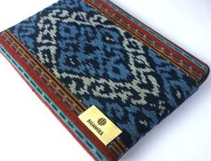 """the """"Ocean"""" case, inspired by the crystal blue waters around the island of Lombok, Indonesia!   Price: USD $65.00  Free Shipping Within Asia $5.00 Shipping Outside Asia Lombok, Ikat, Hand Weaving, Asia, Ocean, Crystal, Island, Free Shipping, Inspired"""