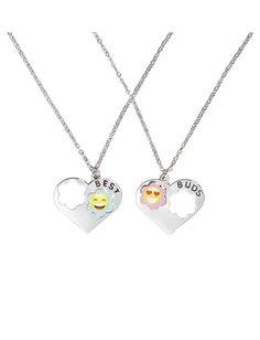 BFF Emoji Overlay Necklaces