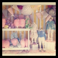All of the children's boutiques are now displaying the most precious little pastel clothes.