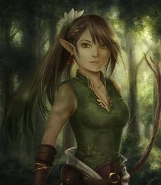 Huntress in the Woods by female elf half-elf ranger wild armor clothes… Monster Characters, Dnd Characters, Fantasy Characters, Female Characters, Fantasy Star, Fantasy Rpg, Fantasy Girl, Female Wizard, Female Elf