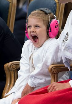 Princess Estelle of Sweden attends a concert at the birthday celebrations for Crown Princess Victoria on July 14 2016 in Oland Sweden Princess Victoria Of Sweden, Crown Princess Victoria, 39th Birthday, Swedish Royalty, Prince Daniel, Princesa Diana, Prince And Princess, Beautiful Moments, Children Photography