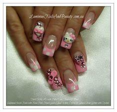 Hello Kitty 3D - Nail Art Gallery