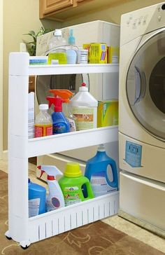 """Exceptional """"laundry room storage diy cabinets"""" detail is available on our website. Check it out and you will not be sorry you did. Diy Storage Shelves, Tiny House Storage, Laundry Room Organization, Creative Storage, Storage Hacks, Small Storage, Closet Storage, Storage Ideas, Small Shelves"""