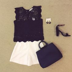 WEBSTA @ effiesinc - Do you need a Monday pick-me-up? Our #Lookoftheday is the perfect solution! This adorable black heavy crochet  crop top and high waisted short add a sweet and spicy touch to your wardrobe!  Come see us today! #happymonday #sweetandspice #shoplocal #cantstopthecrops #SoEffies