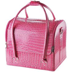 Pink Crocodile Makeup Train Bag Handbag Case w/ Removable Tray Cosmetic Jewelry * Discover this special outdoor gear, click the image : Travel essentials
