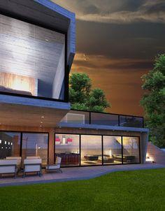 Vista Terraza de la Casa Y_ Diseñada por los Studios 120 Grados & Weis Coello Arquitectos