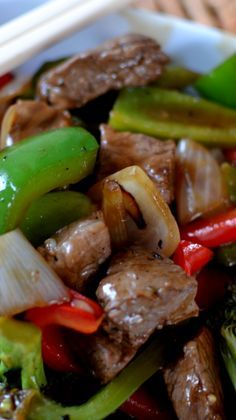 Spicy Beef & Pepper Stir Fry I love stir-fry. This is an easy recipe with just the right amount of spice.