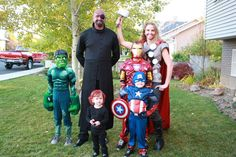 Family Halloween Costume: The Avengers