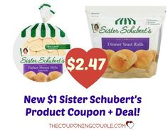 ***PRINT NOW*** There is a new $1 Sister Schubert's Products coupon to print today! Grab a package for only $2.47 @ Walmart!  Click the link below to get all of the details ► http://www.thecouponingcouple.com/new-1-sister-schuberts-products-coupon-walmart-deals/  #Coupons #Couponing #CouponCommunity  Visit us at http://www.thecouponingcouple.com for more great posts!