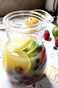 White Summery Sangria » A Full Measure of Happiness