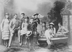 Group photograph with the children of King Edward VII of Britain and some of the children of King George I of Greece