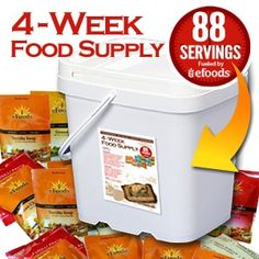 4 weeks of food for $129 and 25 year shelf life!