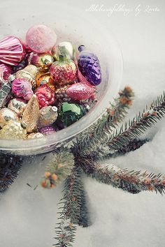 Vintage Christmas ornaments ~