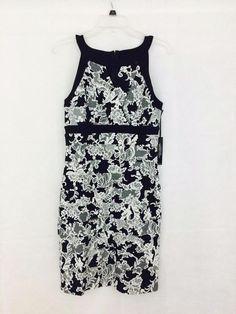 8abe7d347966f NEW WHITE HOUSE BLACK MARKET $160 Lace Print Instantly Slimming Dress Size  10 #WhiteHouseBlackMarket #