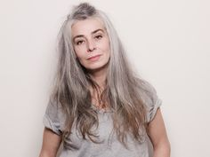 One of my favorite grey hair photos/ model Cecile B