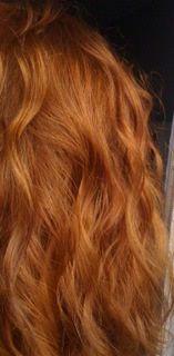 hennaed hair--love the color