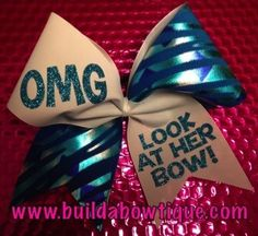 cute cheer bow plus our team colors !!!!!!!!!