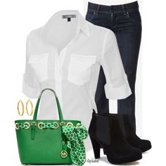 Green with Envy, created by stephiebees on Polyvore