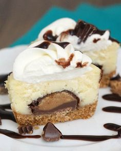 Mini Peanut Butter Cup Cheesecakes #desserts #dessertrecipes #yummy #delicious #food #sweet