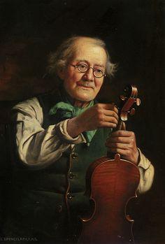 Charles Spencelayh - A broken string