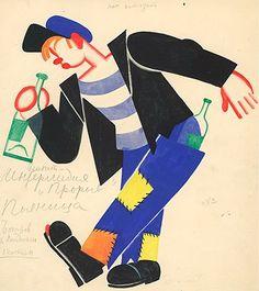 Tatiana Bruni - Costume design for a Drunkard 1931