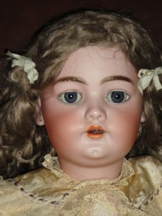 ANTIQUE LARGE SIMON HALBIG DEP FABULOUS BISQUE HEAD DOLL
