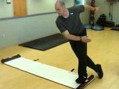 Slide board exercises.