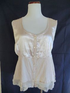 NEW GORGEOUS PHOOL CREAM BEIGE LACE EMBELLISHED PEASANT BLOUSE TOP 2X #Phool #PeasantStyleBlouse #any