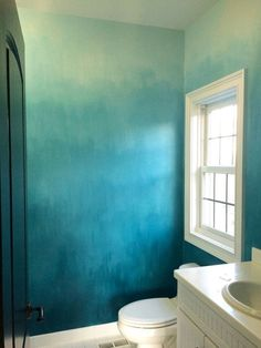 Operation Ombre: Turquoise painted walls with MemeHill .com Operation Ombre: Turquoise painted walls with MemeHill .