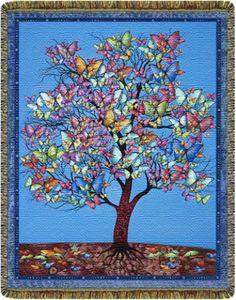 Butterfly Tree - Woven Blanket $70