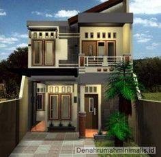 Desain Rumah Minimalis 2 Lantai Type 21 Memanjang