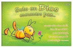 Children's Pechi Christian Poster with Bible Verse in Spanish - Peace; SAFP012; #pechi #ChristianGiftsInSpanish