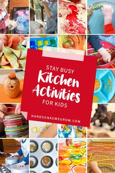 We've gathered a large collection of activities for preschoolers to enjoy in the kitchen using supplies from your cupboards and pantry! Enjoy
