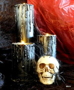 Mirre´s scraphörna: Halloween candles...