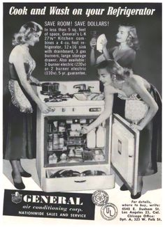 1952 Advertisement for the General 3-IN-1 Home Appliance.