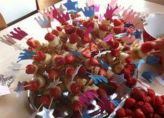 banaan, appel, poffertje en aardbei; kids zijn er dol op!