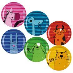 Melamin-Teller-Set Tiere JAKO-O, 6 Stück online bestellen - JAKO-O
